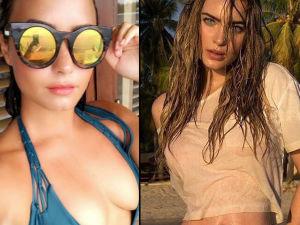 cantantes bikinis cuerpo traje bano fotos thalia iggy azalea belinda demi lovato
