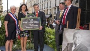París inaugura plaza Gabriel García Márquez