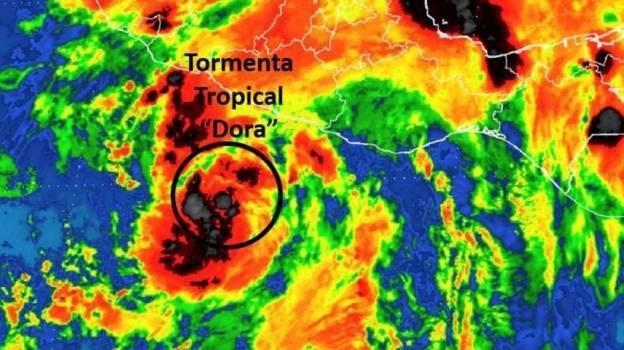 Se forma la tormenta tropical 'Dora' en costas de Guerrero