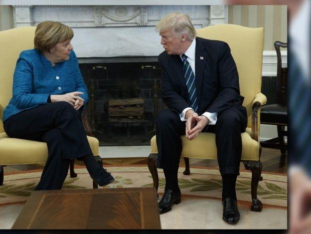 Merkel pidió explicaciones a Trump por no darle la mano