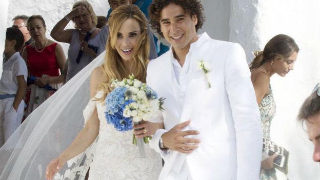 Así fue la boda del guardameta mexicano Guillermo Ochoa y Karla Mora