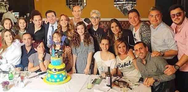 Andrea Legarreta celebró su cumpleaños