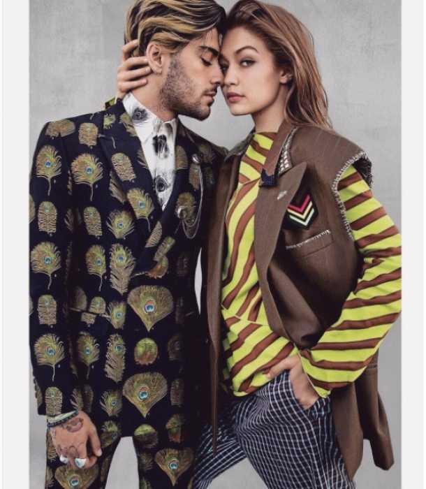 Gigi Hadid y Zayn Malik posan muy enamorados para la revista Vogue