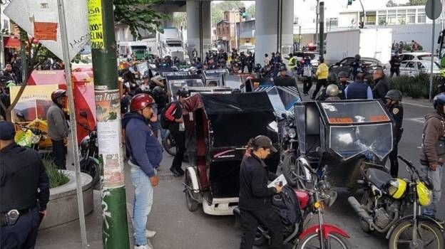 Remiten 87 mototaxis al corralón tras operativo en Tláhuac