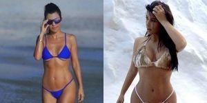 Guerra de bikinis: Kim vs Kourtney Kardashian