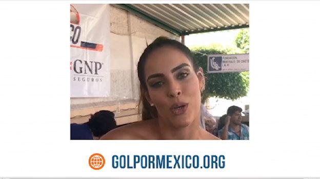Sara Corrales invita a ser parte de Gol por México