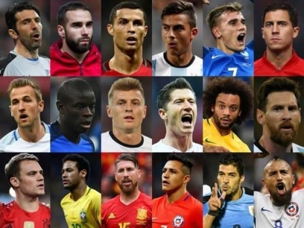 Cristiano, Messi, Neymar y 21 más