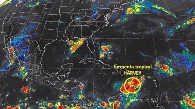 Tormenta tropical Harvey se enfila a Yucatán