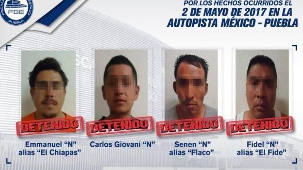 Vinculan a proceso a cuatro presuntos responsables de ataque a familia en la México-Puebla