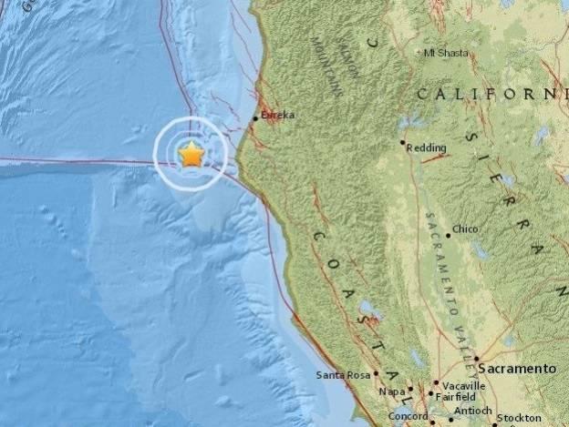 Sismo de magnitud 5.8 sacude California, Estados Unidos