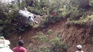 Desploma helicóptero de PGR con víveres en Oaxaca
