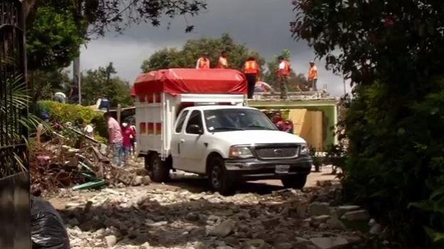 Sismo del 19-S destruye Tlatempa, en el Estado de México