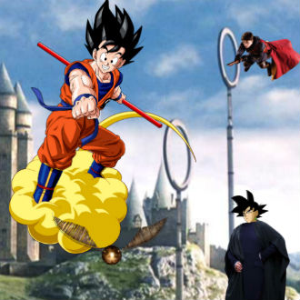 'Goku' visita Hogwarts