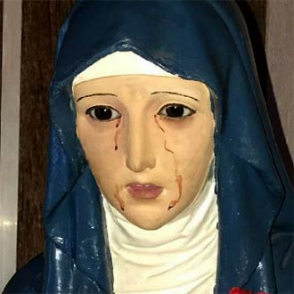 Virgen que llora sangre en Argentina fue analizada y no creerás el resultado