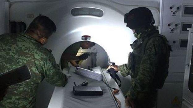 Aseguran 371 kilos de cocaína escondidos en tomógrafo, en Tamaulipas