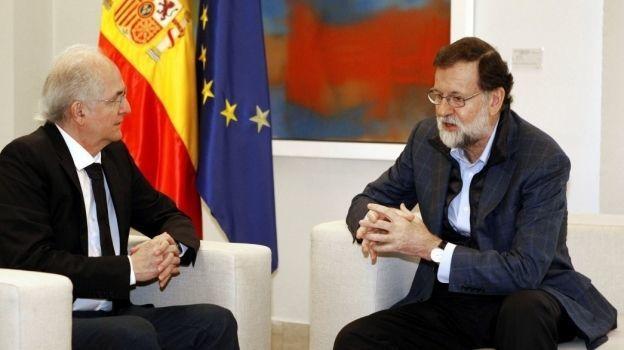 Venezuela tilda de 'acto inamistoso' reunión de Rajoy y Ledezma