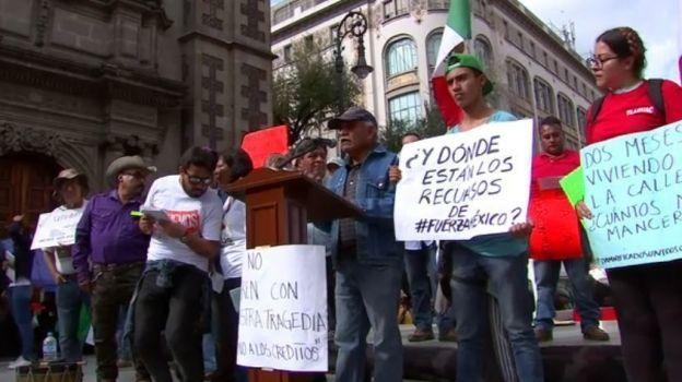 Damnificados por sismo protestan por créditos para vivienda