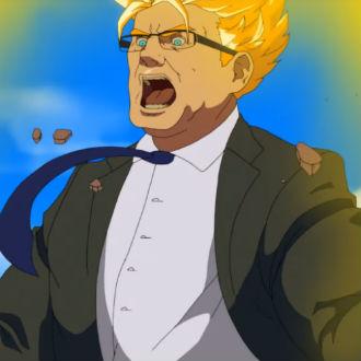 Hacen anime estilo de 'Dragon Ball' de dos políticos