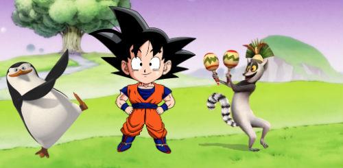 Los Tres Reyes Marios hacen platica entre 'Goku' 'Skipper' y el 'Rey Julien'