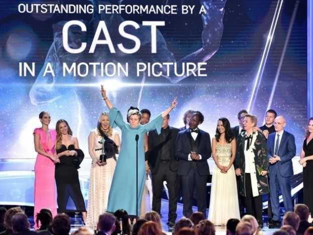 'Three Billboards', la máxima ganadora de los SAG Awards 2018