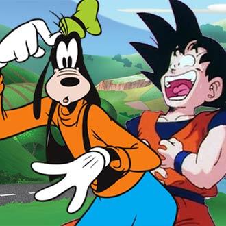 ¡'Goofy' intenta contar un chiste y 'Gokú' pierde el control!