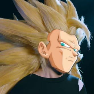 Así te verías con el cabello verdadero del Súper Saiyajin Fase 3