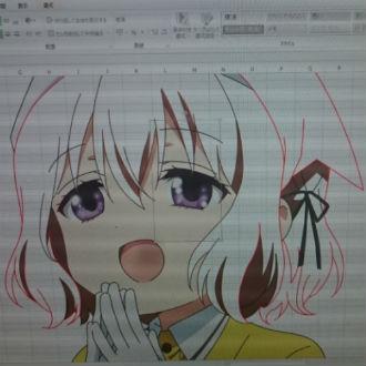 Asi�tico dibuja anime �en Excel!