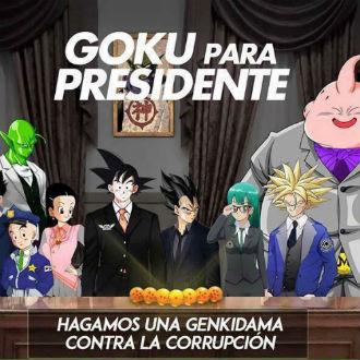 Así sería la campaña de Goku para presidente
