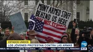 Manifestación juvenil en la Casa Blanca por mayor control de armas