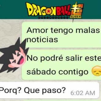 Le dice a su novia por WhatsApp que no saldr� con ella para ver 'Dragon Ball Super'