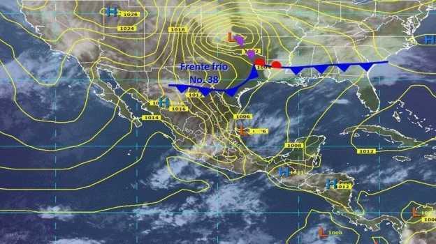 Frente frío 38 provocará tormentas y fuertes vientos en México