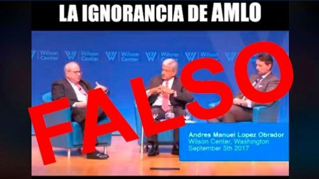 Video 'la ignorancia de AMLO' está manipulado