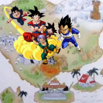 Mapamundi de 'Dragon Ball'